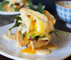 cuisine hollandaise eggs benedict my way with sriracha hollandaise