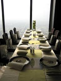 private fine dining interior design of the signature room at 95th