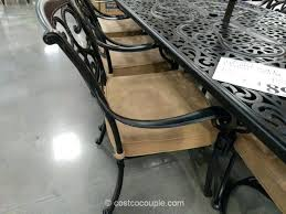 cast aluminum dining table lovely costco patio table or 9 piece cast aluminum dining set 5 98