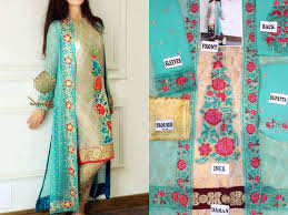 gown style dresses gown style chiffon dress with jamawar inner price in pakistan
