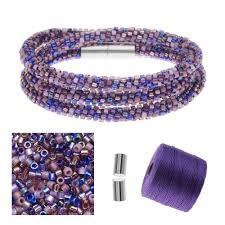 beaded bracelet kit images Refill beaded kumihimo wrap bracelet kit purple exclusive jpg
