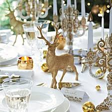christmas table decorations gold reindeer christmas table decoration
