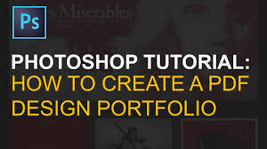 portfolio design pdf export multi page pdf portfolio in adobe photoshop