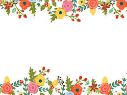cute floral powerpoint templates border u0026 frames flowers green