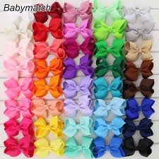 boutique bows babymatch 40pcs lot 3 3 hair bows grosgrain ribbon bow with