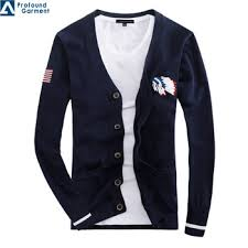 wholesale sweaters customized embroidered logo button sweater cardigans