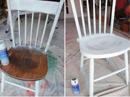 How To Paint Wooden Chairs by Remodelando La Casa Spray Painted Chairs