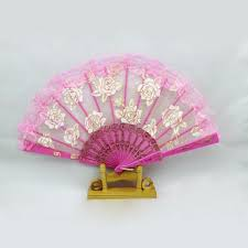 held fans hot summer lace held fans tulle folding fans wedding birthday