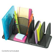 Safco Mesh Desk Organizer Onyx Deluxe Organizer Qty 6 Safco Products