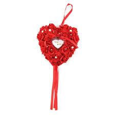 romantic rose wedding favors heart shaped gift ring box pillow