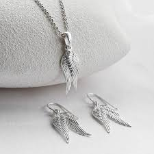 silver necklace wings images Silver angel wing necklace martha jackson jewellery jpg