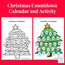 christmas countdown calendar christmas countdown calendar and learning activity
