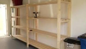 Free Wooden Garage Shelf Plans by Diy Garage Shelves Planwood Storage Cabinets Wood Composite