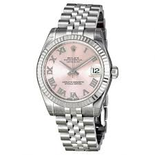 pink bracelet watches images Rolex datejust lady 31 pink dial stainless steel jubilee bracelet jpg