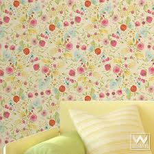 floral removable wallpaper wallternatives