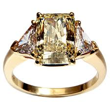 canary engagement ring cartier canary ring at 1stdibs