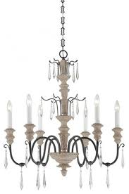 Iron And Wood Chandelier Six Light Distressed White Wood And Iron Up Chandelier For Awesome