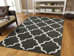 Modern Rugs 8x10 Large 8x11 Morrocan Trellis Area Rug Gray Contemporary