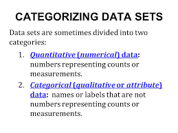 sections 1 3 types of data parameters and statistics parameter a
