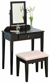 Wood Vanity Table Amazon Com Crown Mark Iris Vanity Table Stool Espresso Finish