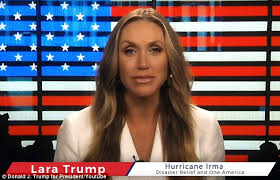 donald trump youtube channel lara trump films hurricane video hours before giving birth daily