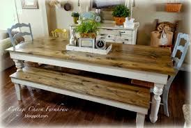 Farm Tables With Benches Cottage Charm Farmhouse Collection Provincial Farmhouse Table