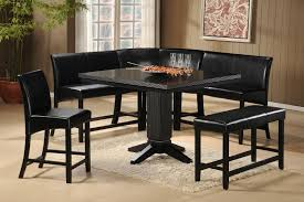 black metro 5 piece counter height set dining room sets