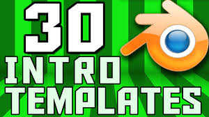 2d intro templates for blender top 30 blender 2d intro template youtube