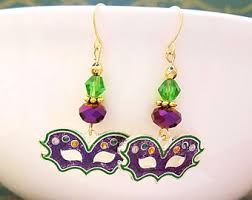 mardi gras earrings mardi gras earrings etsy