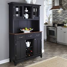 lowes medium oak kitchen cabinets home styles black medium cherry wood china cabinet with wine storage