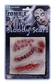 latex for halloween makeup amazon com forum novelties men u0027s zombie bloody scars costume