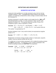 multiplying and dividing scientific notation worksheet scientific notation worksheet