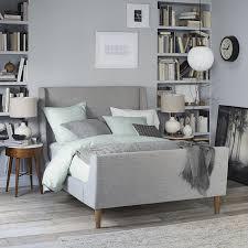 west elm bedroom upholstered sleigh bed west elm