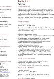 Skills For Server Resume Free Catering Server Resume Template Sample Ms Word Download