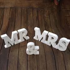 mr and mrs sign for wedding aliexpress buy mr mrs signs for wedding decoration table