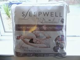 Sleepwell Heated Duvet Sleepwell By Dreamland Heated Luxury Cotton Mattress Cover This