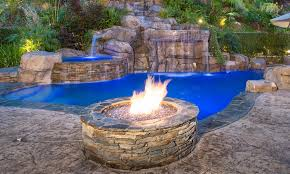 Rock Firepits Greecian Pools Bakersfield Ca Features