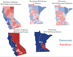 Define Political Map Minnesota And Northern California Political Twins Or Political