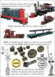 Backyard Trains For Sale by Rmi Railworks Live Steam Gas Diesel And Electric Locomotives