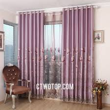 Livingroom Curtains Pastoral Light Purple Living Room Curtains With Gauze And Cloth Fabric