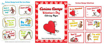 free printable curious george valentines coloring pages u0026 more