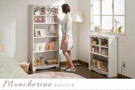 White Shabby Chic Bookcase Atom Style Rakuten Global Market Book Rack Shelf Display Rack