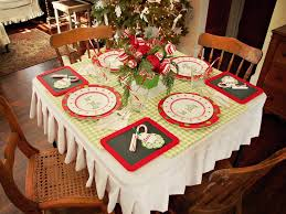 nice christmas table decorations create a festive holiday kids table hgtv
