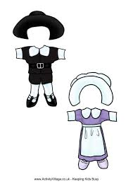 paper dolls thanksgiving costumes 1