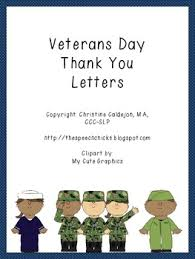 Thank You Letter Veterans veterans day thank you letters by the speech tpt
