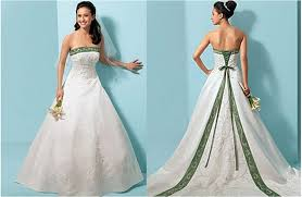 green wedding dress white and green wedding dresses