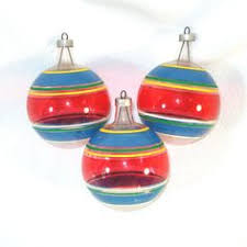 vtg 40s porcelain bells painted painted japan ornaments