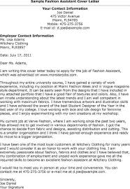 fashion stylist cover letter