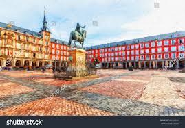 Home Design Plaza Mayor by Plaza Mayor Statue King Philips Iii Stock Illustration 523020808