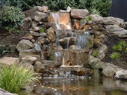 Homemade Backyard Waterfalls by Home And Garden Show Rock Waterfall Paradise And Rock